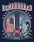 ALWAYS REMEMBERED 9-11-01 Freedom Tower MEMORIAL T-SHIRT