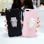 3D Cute Relief Soft Squishy Cat Phone Case Cover for iPhone 6S 7 Plus X Great