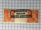 GERMANY NORTH FRANCE WWII-GERMAN OCCUPATION 60 c.  gutter pair MNH
