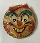 Vintage Vietnamese Hand Painted Basket Theatrical Cheo Face Decorative Wall Art