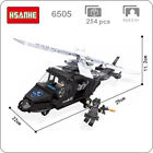 HSANHE Military Army Ploice SWAT Helicopter Plane Blocks DIY Mini Building Toy