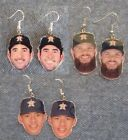 Houston Astros Carlos Correa , Dallas Keuchel , Justin Verlander Earrings on Ebay