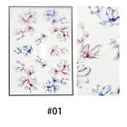 Art Women Fashion Beauty 3D Engraved Nail Stickers Embossed Flower Water Decals