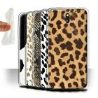 STUFF4 Gel/TPU Phone Case for HTC Desire 610 /Fashion Animal Print Pattern