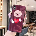 Cute Cartoon Teddy Dog Tempered Glass Phone Case Cover For Apple iPhone 6-XS Max