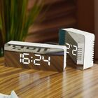 Mirror LED Alarm Clock Night Lights Thermometer Snooze Table Wall Clock LED Lamp