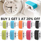 3 Port Fast Quick Charge QC USB Hub Wall Charger Power Adapter US Plug H1R