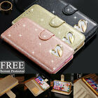 Luxury Leather Glitter Flip Bling Wallet Phone Case Cover For iPhone SE 6 6s 7 8