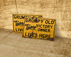 Grumpy old Victory owner lives here sign for garage, man cave, home $16.09 USD on eBay