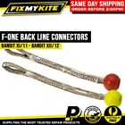 F-ONE RED LIME BACK LINE PIGTAIL CONNECTORS -  PLASTIC BALL BANDIT FONE KITES