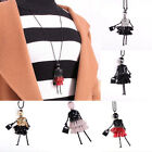 Beads Dress Doll Necklace Long Chain Fashion Sweater Jewelry 5 Colors、pop