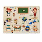 Kids Wooden Puzzle Hand Grab Board Set Educational Animal Puzzle Toys