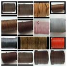 European Round 100%  Leather Cord  1.5, 2, 3, Mm Jewellery Craft Many Colours