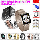 38mm to 44mm Men's Stainless Steel iWatch Band For A pple Watch Series 4/3/2/1