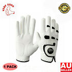 Men's Golf Gloves Left Right Hand 1 Pack Leather With Ball Marker All Weather AU