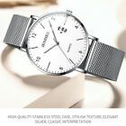 Classic Men's Quartz Luminous Analog Date Wrist Watch Stainless Steel Mesh Band image