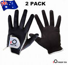 Golf Gloves Men's Wet Weather Right Hand Left Hand LH RH 2 Pack Black Grey Rainy