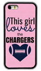 Chic Girl Love San Diego Chargers Pink Rubber Phone Case For iPhone /Samsung /LG $8.98 USD on eBay