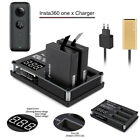 For Insta360 One X Action Camera 3In1 Camera Battery Charger USB Ports Accessory
