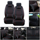 11Pcs Car Seat Cover Protector Cushion Front & Rear Full Set PU Leather Interior