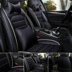 11Pcs Car Seat Cover Protector+Cushion Front & Rear Full Set PU Leather Interior  for sale