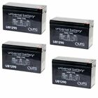 NEW 4 PACK UPG UB1290 12V 9AH Battery Replaces Boss Buck 600LB Automatic Feeder