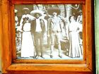 PONCHO VILLA  with FIGHTERS & WOMEN -THREE RARE PHOTO in HEAVY WOODEN FRAMES!
