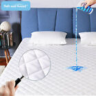 Cooling Waterproof Matress Pad Deep Pocket Quilted Mattress Topper Protector New image