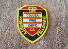 California Colusa Fire Department Shoulder Patch