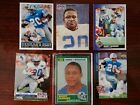 Lot of 6 Barry Sander Football Cards Including a Rookie Card.
