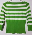 Ladies George ME 3/4 Sleeve Striped Sweater Size SMALL 4/6