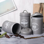 3Pcs/Set Tea Coffee Sugar Food Storage Canister Kitchen Spice Jar with Lid Beat