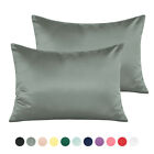 NTBAY Silky Satin Toddler Pillowcase 13 x 18, Travel Pillow Case Cover Set of 2 image