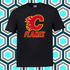 Calgary Flames Hockey Club Logo Men's Black T-Shirt Size S M L XL 2XL 3XL $21.99 USD on eBay