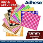 Adheso 13mm Coloured Dot Stickers Round Sticky Dots Adhesive Circles Labels