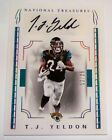 2016 T.J. Yeldon National Tresures Autograph Card 12/25 FREE SHIPPING