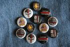 "The Thin RED Line Firefighters Fireman support Pin Pinback Button 1"" Badge FD"