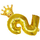 Digital Crown Aluminum Foil Balloon Wedding Party Age Balloons Photo Props
