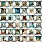 Christian Schloe Pillow Case Cotton Linen Sofa Cushion Cover Throw Pillow Cover