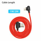 90° Angle USB Type C LED Cable Fast Charging Data Sync Phone Cable For Android
