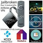 Jailbroken Amazon fire tv Box Stick Cube w/ Kodi18.1 + over 20 top android apps