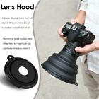 Reflection-free Collapsible Silicone Lens Hood for Camera Phone Large Black #SE
