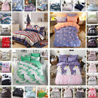 4Pcs Reversible Complete Duvet Cover Bedding Sets with Fitted Sheet+Pillowcases image