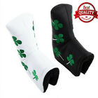 Golf Putter Head Cover Velcro Skull Green Four Leaf Club Putter Covers Gift AU