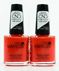 2 CND Vinylux Weekly Nail Polish .5 oz #244 MAMBO BEAT - bright coral