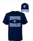 NBA Memphis Grizzlies Youth T Shirt and Hat Combo-Size L or XL (Y1)