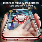 Magnetic Ring Holder Stand Clear Case Cover For iPhone X XR XS Max Plus 8 7 6 5