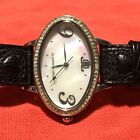 Jennifer Lopez Mother Of Persl Duamond Studded Quartz Watch With Signed Band