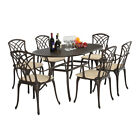 Patio 5/7 Pieces Metal Cast Aluminium Table Garden Furniture Sets With Cushions