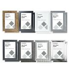 Pack of 2 Photo Frames 6x4 - White, Grey, Silver, Gold, Black, 6x4 Picture Frame